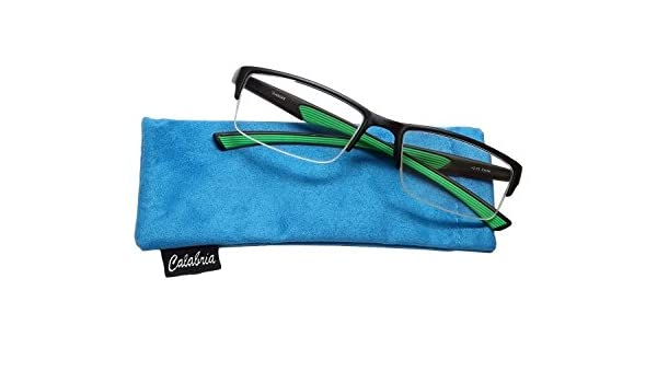 5d5a730cfd Calabria 6904 Semi-Rimless Flexie Reading Glasses in Green   +2.00   Amazon.in  Clothing   Accessories