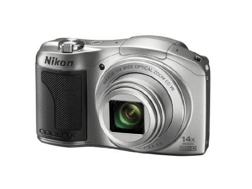 Nikon Coolpix L610 Kompaktkamera (16 Megapixel, 14-fach opt. Zoom, 7,6 cm (3 Zoll) Display) silber