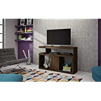 Brv Moveis TV Table with Four Shelves and One Cabinet, Brown