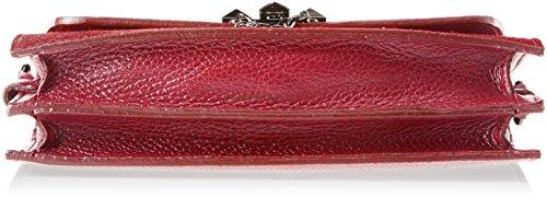 Chicca Borse 1638, Borsa a Spalla Donna, 25x16x7 cm (W x H x L) Rosso