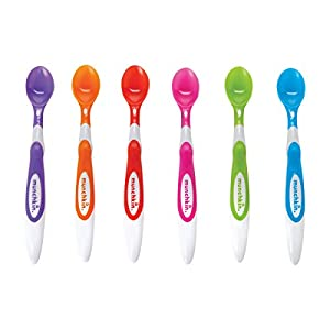 Munchkin Soft Tip Infant Spoons - Multi-Coloured, Pack of 6