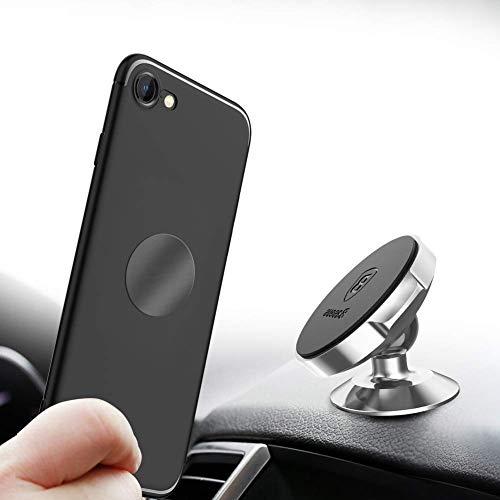 Baseus Magnetische Auto Handyhalterung Universal KFZ Magnet Handyhalter Magnethalterung Autohalterung Halter Geeignet für iPhone, Samsung und jedes andere Android Smartphone oder GPS-Gerät (Silber)