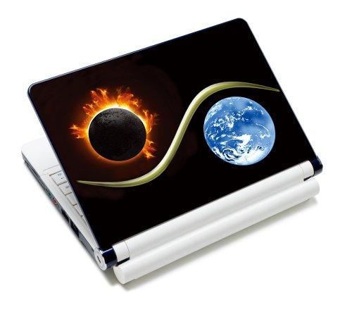 Luxburg® Design Aufkleber Schutzfolie Skin Sticker für Notebook Laptop 10 / 12 / 13 / 14 / 15 Zoll, Motiv: Yin Yang