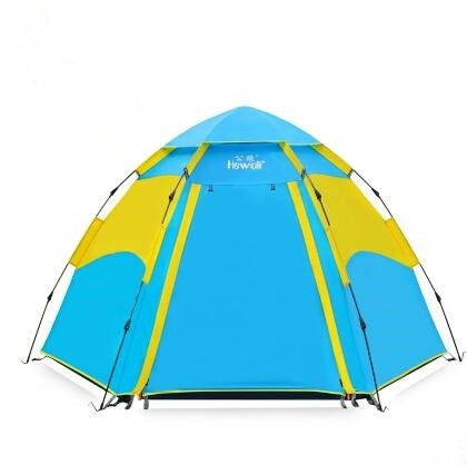 Zelt Outdoor 3–4Personen Familie 5–8Personen Große Zelt Sechskant Vollautomatische Zelte Bereich Camping Ausrüstung (Pop-up-camper-ausrüstung)