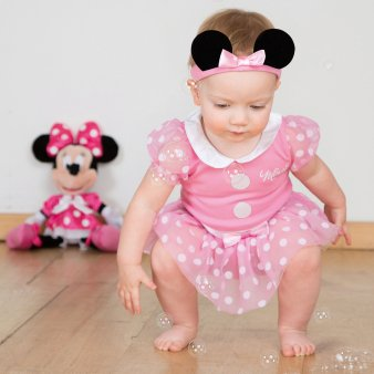 Baby Infant Kostüm Maus - Kleid bis Minnie Maus Infant Kostüm, pink, 0-3 Monate