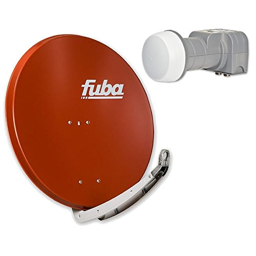 Fuba DAA 850HD Sat Anlage–4Teilnehmer (m. Dek 416)–SAT Anlage bestehend aus Fuba DAA 850in Wunschfarbe + Fuba DEK 416Quad LNB