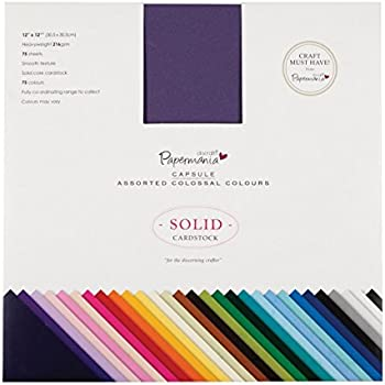 Vaessen Creative Florence Scrapbook-Papier Cardstock 30,5x30,5cm x60 Blatt Leinwand-Struktur multicoulor Paper 30.5 x 30.5 x 1 cm