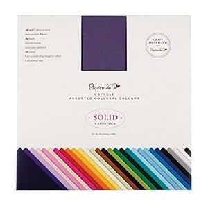 "Docrafts, Set di cartoncini quadrati, Multicolore (Blue/Orange/Red), 12 x 12"", 75 pz."