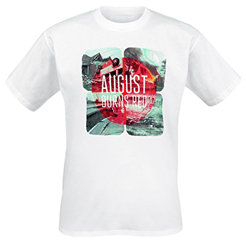 August Burns Red - Squares T-Shirt, weiss, Grösse XL (August Red-shirts Burns)