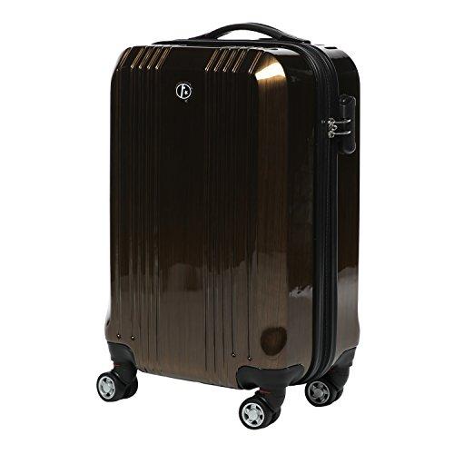 FERGÉ Handgepäck-Koffer leicht CANNES Bordgepäck-Koffer Hartschale | Reisekoffer Kabinentrolley 4 Zwillingsrollen (360°) genehmigt Ryanair, Easyjet,...