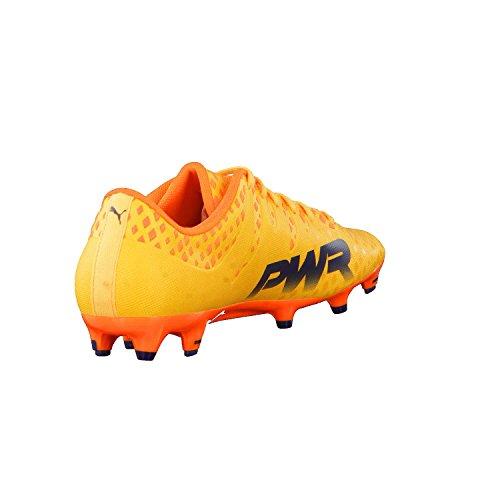 Puma Evopower Vigor 3 FG, Chaussures de Football Homme Ultra Yellow-Peacoat-Orange Clown Fish