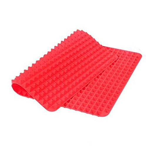 ZycShang Silicone Pyramid Mat Non Stick Barbecue Fat Reducing Cooking Planks Oven Baking Tray Sheets