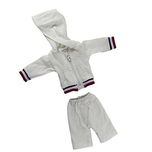 MagiDeal Puppen Freizeitkleidung Set, Reißverschluss Kapuzenmantel mit Shorts Sport Set, Puppen Outfit Kleidung für 14,5 Zoll American Girl Puppen - Shorts Set Puppe American Girl