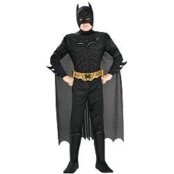 Costume Deluxe Carnevale / Halloween Supereroi Batman Cavaliere Oscuro - Bambino Small