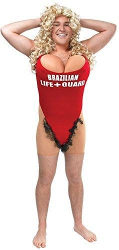 Herren Weiblich Rettungsschwimmer Lustige Neuheit Junggesellenabschied Nacht Fest Halloween Kostüm Kleid Outfit (Weibliche Kostüme Halloween)