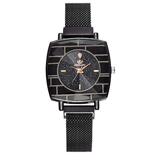 Simple Quartz Clock For Women Leather Strap Wrist Watch Reloj Mujer Vintage Ladies Round Mesh Strap Watch Quartz Fashion Watch Good Companions For Children As Well As Adults Watches