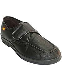 Zapatilla hombre simulando zapato con velcro Doctor Cutillas en negro