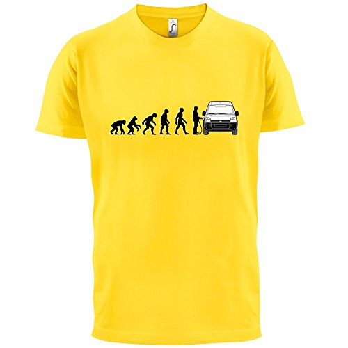 Evolution of Man - Transit Fahrer - Herren T-Shirt - 13 Farben Gelb
