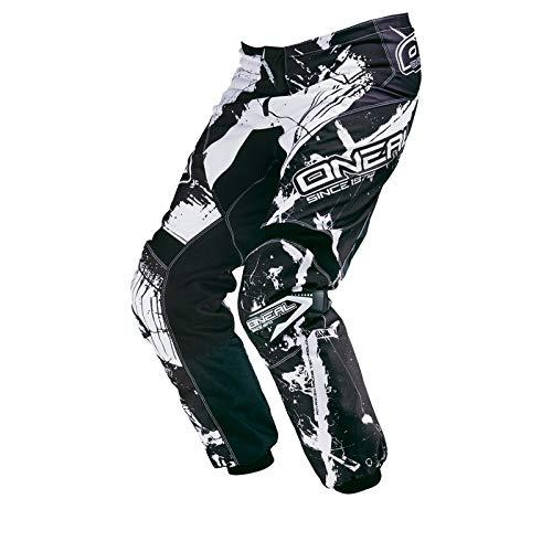 O'NEAL Element MX DH MTB Pant Hose lang Shocker schwarz/weiß 2018: Größe: 34 (50)