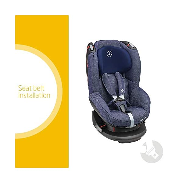 Maxi-Cosi Tobi Toddler Car Seat Group 1, Forward-Facing Reclining Car Seat, 9 Months-4 Years, 9-18 kg, Sparkling Blue Maxi-Cosi Forward facing group 1 car seat suitable for children from 9 to 18 kg (approx. 9 months to 4 years) Install with a 3-point car seat belt, with clear and intuitive seat belt routing High seating position allows toddler to watch outside the window 2