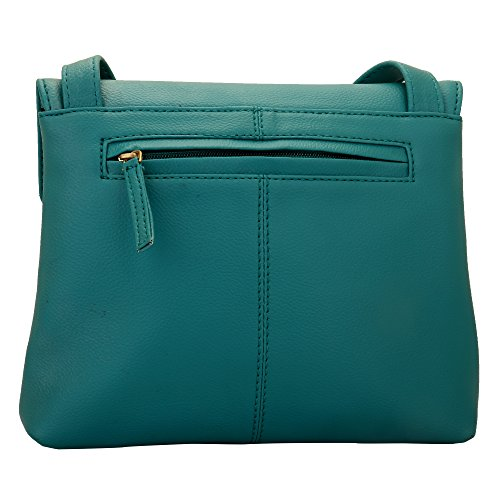 Multi-functional pocket design Lapis O Lupo Womens Synthetic Sling Bag Light Tourquise