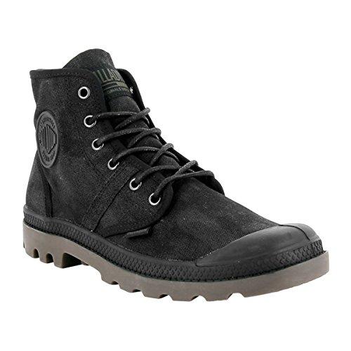 Palladium Womens Pallabrouse Wax Canvas Boots Black Dark Gum