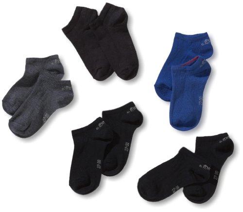 s.Oliver Jungen Sneakersöckchen 5 er Pack, S24125, Gr. 27-30, Mehrfarbig (34 navy combi: dark blue, blue, jeans, navy, navy)