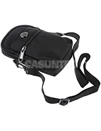 Tradico® Sport Travel Casual Fanny Pack Belt Waist Shoulder Bag Cell Phone Case Black