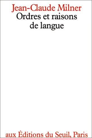 Ordres et raisons de langue