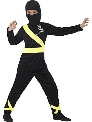 Smiffy's 21072L - Kinder Jungen Ninja Assassin Kostüm, Kapuze, Maske, Oberteil und Hose, Alter: 10-12 Jahre, (Zehn Kostüme Top Halloween)