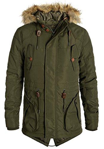 BLEND Polygamma Herren Parka Winterjacke Kapuze mit hochabschließendem Kragen aus hochwertiger Materialqualität Ivy Green (77026)