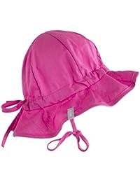 Melton Unisex Baby Mütze Sommerhut mit Krempe UV 30+, uni, Einfarbig