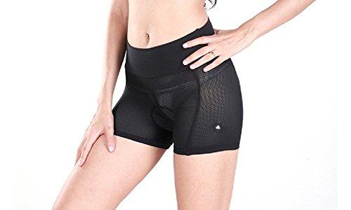 Lance Sobike Damen- Rad-Trikots Unterwäsche Unterhosen Mit Gepolstert (Schwarz, Mittel)