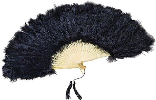 Erwachsene Fancy Kostüm Party Kleid Burlesque Showgirl 20Handheld Feder Fan UK (Erwachsene Burlesque Kostüm Showgirl)