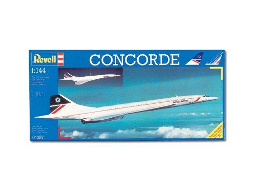 """Revell Modellbausatz Flugzeug 1:144 - Concorde \""""British Airways\"""" im Maßstab 1:144, Level 3, originalgetreue Nachbildung mit vielen Details, Zivilflugzeug, Passagierflugzeug, 04257"""