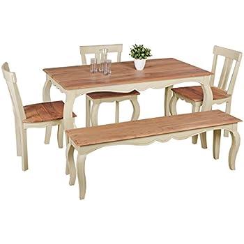 Essgruppe Essecke Massiv Holz BODDE Used Look Vintage Tisch Set ...
