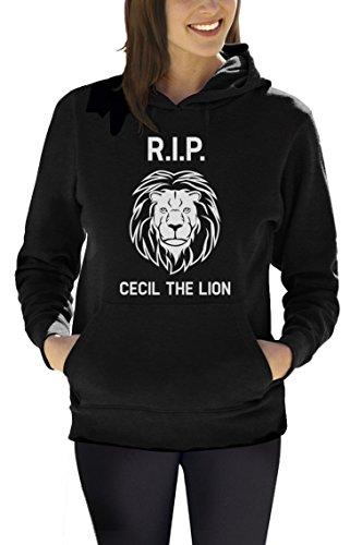 RIP Cecil The Lion Frauen Kapuzenpullover Hoodie Schwarz