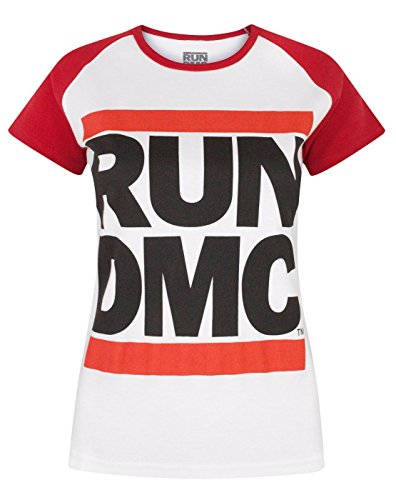 Run DMC Logo Women's Raglan T-Shirt (S) (Womens Raglan Fan)