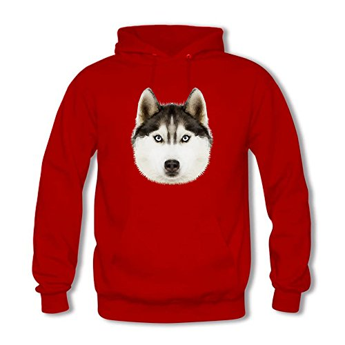 Men's Hoodies Sweater Owl dog head like Head printed Pullover Tops Blouse Red XXL (Camo Red Head)