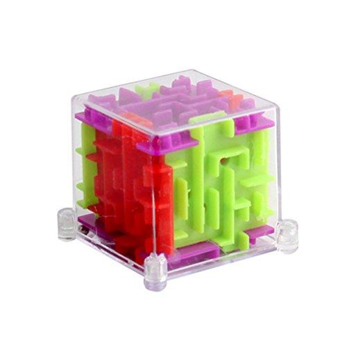 TOYMYTOY 3D Mini Laberinto Cubo Mágico Juguetes Puzzle Educativo para Niños