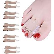 Flyglobal Toe Splint Straightener Toe Support Separators Protectors Brace Bunion Splint Corrector for Bent Hammer Broken Overlapping Toes Bunions Women Men 10 PCS