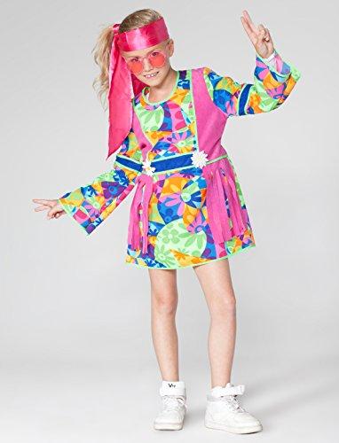 ,Karneval Klamotten' Kostüm Flower Power Mädchen Blumen Kleid Karneval Hippie Mädchenkostüm Größe 152