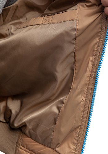 BOLF – Veste matelassé - Fermeture éclair – SKORP 5201 – Homme Kaki