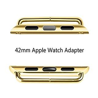 Apple Watch 1 | 2 | universal Adapter für die 42mm Uhr | mattschwarz | poliert | gold | rose | edelstahl | Replacement Wrist | Armbandadapter zum wechseln der Armbänder | hochwertig | edel | apple Watch Zubehör | (42mm, 38mm) (42mm, gold)