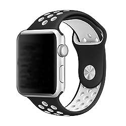 Leehur Apple Watch Strap 42mm Strap Bracelet Nike Series For Apple Watch Series 123 (White 42mm)