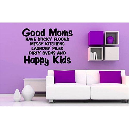 Wand Kunst Dekor Decals Removable Mural Gute Mütter haben klebrige Böden chaotisch Küchen