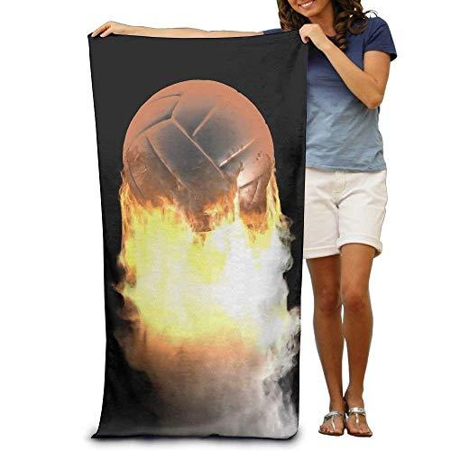 ewtretr Strandtücher Super Beach Towel Burning Volleyball Ball Polyester Velvet Beach Towels 31