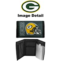Green Bay Packers NFL Team Logo Tri Fold High Quality Nylon Pocket Wallet by LA Auto Gear