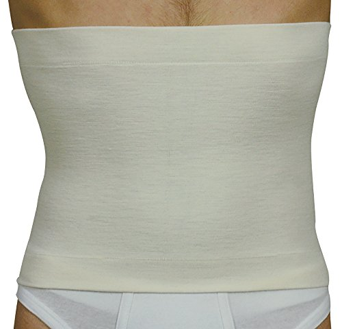 Elan 500227 (taglia 6) - termocintura tubolare lana merino e angora colore bianco altezza 27 cm