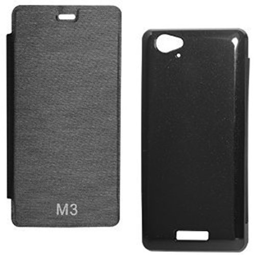 XRIS Original flip cover / Case for Gionee Marathon M3 - Black  available at amazon for Rs.145